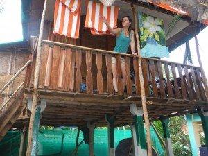 le balcon de notre hutte